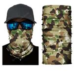 Face Mask and Neck Warmer with Dust and Sun UV Protection (Camouflage S4)