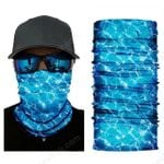 Face Mask and Neck Warmer with Dust and Sun UV Protection (Acqua)