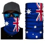 Face Mask and Neck Warmer with Dust and Sun UV Protection (Flag)