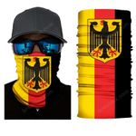 Face Mask and Neck Warmer with Dust and Sun UV Protection (Flag S144)