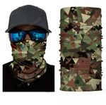Face Mask and Neck Warmer with Dust and Sun UV Protection (Camouflage S67)