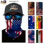 3D Flag Winter Warmer Fleece USA Canada Australia Snowboard Motorbike Moto Cycling Head Shield Balaclava