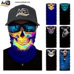 3D Skull Winter Warmer Fleece Snowboard Motorbike Head Shield Balaclava