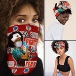 Proud Black Nurse Bandana Mask PN22BNv2