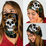 Skull Sunflower Bandana Mask PS01BN
