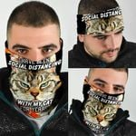 I have Been Social Distancing With My Cat  For Years Bandana Mask QNK11BN