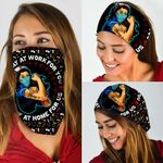 Strong Nurse. We Stay At Work For You Bandana Mask THB1930BN