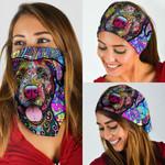 Colorful Pitbull Bandana Mask QNK14BN