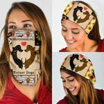 Dachshund Wiener Love Bandana Mask PN06BN