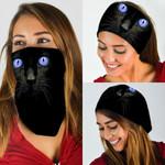 Black Cat Blue Eyes Bandana Mask DDH1313