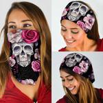 Skull In The Flowers Bandana Mask QNK24BN