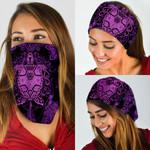 Purple Turtle Mandala Pattern Bandana Mask DDH1269