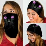 Black Cat Purple Eyes Bandana Mask DDH1311