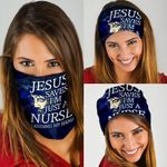 Jesus Saves I'm just A Nurse Lending My Hand Bandana Mask QNK12BN