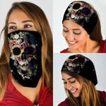 Bloom Skull Flower Bandana Mask QNK25BN