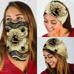 Bees Vintage Mandala Bandana Mask DDH1868