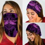 Dragonfly Purple Mandala Bandana Mask DDH1253