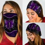 Purple Butterfly Mandala Bandana Mask DDH1863