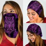 Purple Owl Mandala Pattern Bandana Mask DDH1275