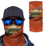[UNIQUE] Jeep Inside Orange Background Magic Bandana