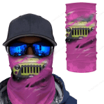 [UNIQUE] Jeep Inside Pink Background Magic Bandana
