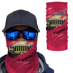 [UNIQUE] Jeep Inside Red Background Magic Bandana