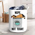 Horse Nope Not Today Laundry Baskets