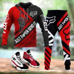 [PREMIUM] Just FxKn Send It Red Combo Hoodie + Joggers + AirJD 13 for Men