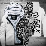 [PREMIUM] FX Grut White Mix Fleece Zip Up Hoodie