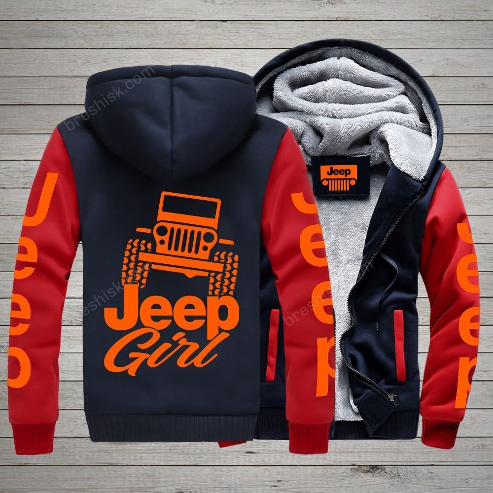 [PREMIUM] Jeep Girl Orange 3D Fleece Zip Up Hoodie