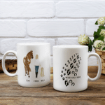 Never Walk Alone Personalized White Mug
