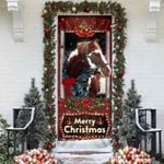 [PREMIUM] Beautiful Christmas Horse Door Cover