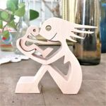A woman a child  Chanted wood sculpture  Mother's Day Gift