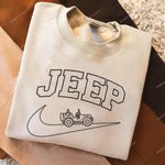 Inspired by Nike Jeep Girl Embroidered Crewneck Sweatshirt, T-Shirt, Hoodie Full Colors|Vintage Nike Inspired Shirt|Trendy Sweatshirt