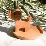 Natural Wooden Dog Puppy Cell Phone Stand Holder For Iphone Ipad SmartPhone Tablet Plate PC