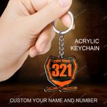 Motocross Dirtbike Number Plate Personalized Keychain