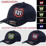 Motocross Number Plate Personalize Cap