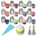 Floral Magic Baking Nozzles (All in one 14-Piece Set)