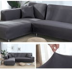 IB™ Stretchable Elastic Sofa Covers, Premium All-Season Sofa Slip Covers Moisture And Stain-Resistant, Perfect Fit Sofa Cover