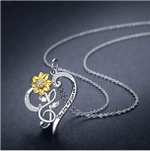 Sunflower Necklace S925 Sterling Silver