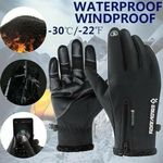 Premium Thermal Windproof and Waterproof Touch Screen Gloves