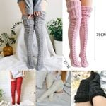 Women Winter Sexy Knitted Stockings (1 Pair) - One size fits all
