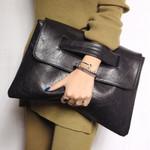 Alisa - 2021 Women Envelope Leather Clutch Bag