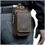 Real Leather Premium Outdoor Belt Waist Bag For Men