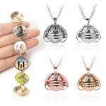 Angle Wings Expanding Photo Locket Necklace