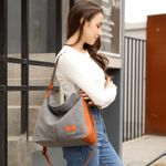 Canvas Shoulder Bag - Crossbody Bag with Extra Large Capacity