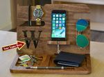 Personalized Wood Docking Station - Gift for Father's Day, Husband, Anniversary Gift