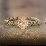 Natural African Jasper & Tree of Life Bracelet