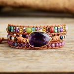 Internal Wisdom Amethyst Wrap Bracelet