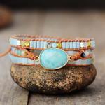 Natural Amazonite Wrap Bracelet